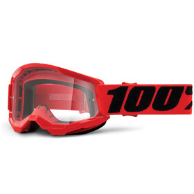 100% Strata Anti-Fog Goggles Gen2 Youth, red/clear